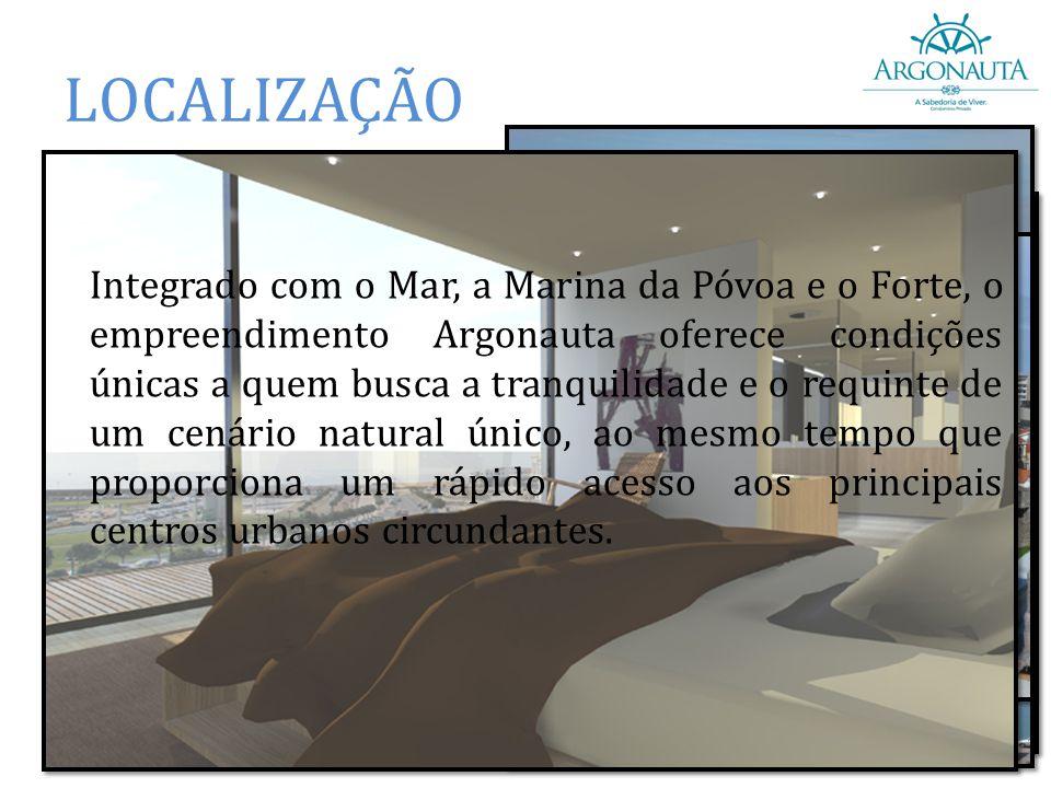 LOCALIZAÇÃO Em frente à Marina da Póvoa de Varzim; A 30 km do Porto e 20 km do Aeroporto Francisco Sá Carneiro; Ao lado da Fortaleza de Nossa Senhora