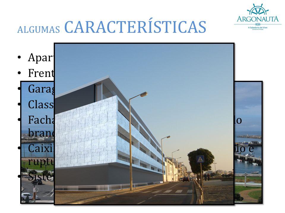 """ALGUMAS CARACTERÍSTICAS Apartamentos T3, T3 DUPLEX e T4; Frentes amplas de mar; Garagem fechada; Classificação Energética """"A""""; Fachada ventilada em má"""