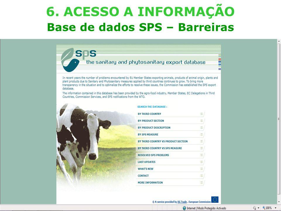 External TradeTrade EC - DG TRADE - SPS TEAM (Lisboa – 29.03.2011) 23 6. ACESSO A INFORMAÇÃO Base de dados SPS – Barreiras