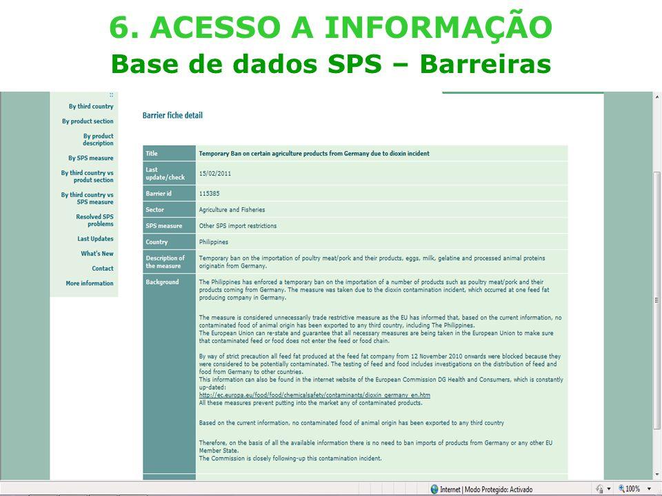 External TradeTrade EC - DG TRADE - SPS TEAM (Lisboa – 29.03.2011) 24 6.