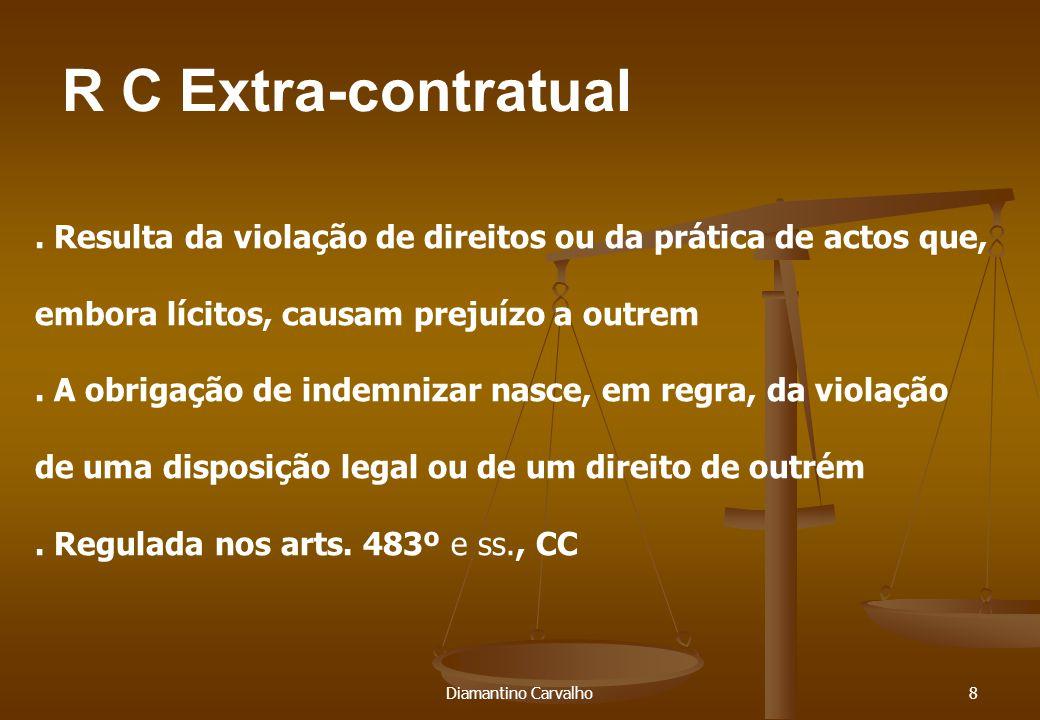 Diamantino Carvalho9.A responsabilidade extracontratual funda-se em geral na culpa (483º,1).