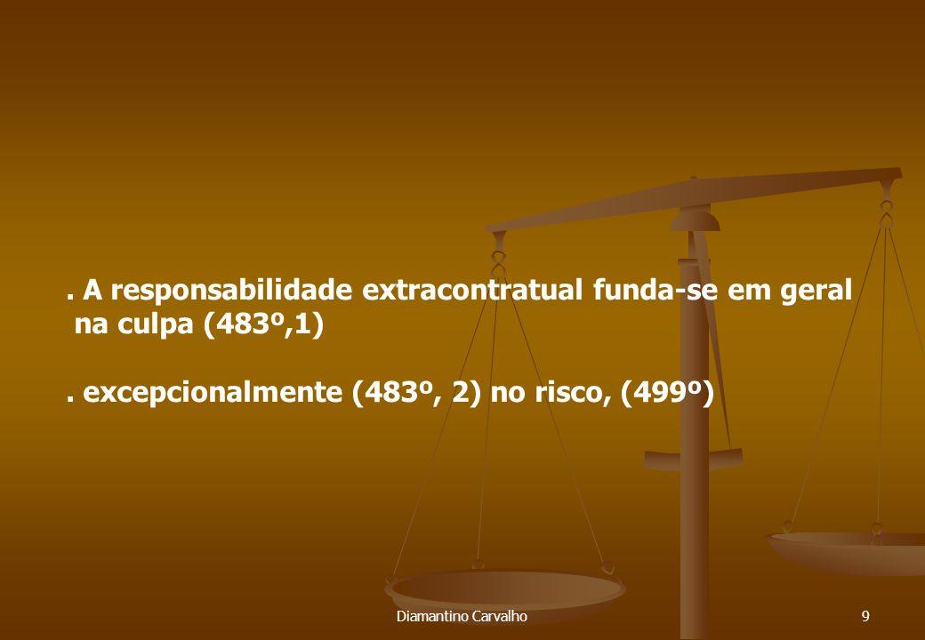 Diamantino Carvalho9. A responsabilidade extracontratual funda-se em geral na culpa (483º,1).