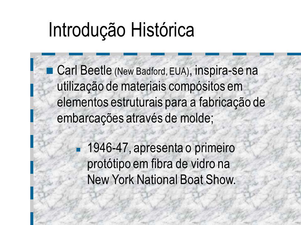 Introdução Histórica Carl Beetle (New Badford, EUA), inspira-se na utilização de materiais compósitos em elementos estruturais para a fabricação de em