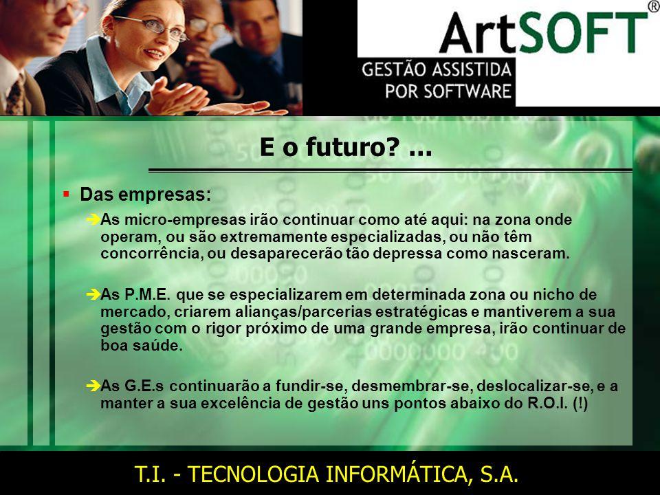 T.I. - TECNOLOGIA INFORMÁTICA, S.A. E o futuro ...
