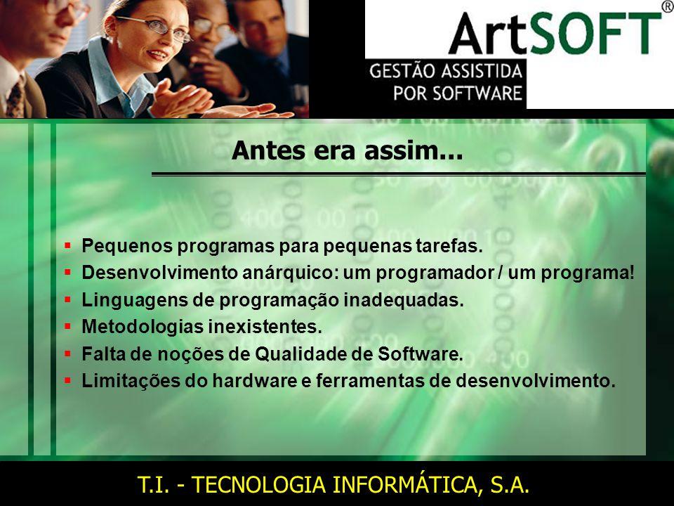 T.I.- TECNOLOGIA INFORMÁTICA, S.A. E agora .