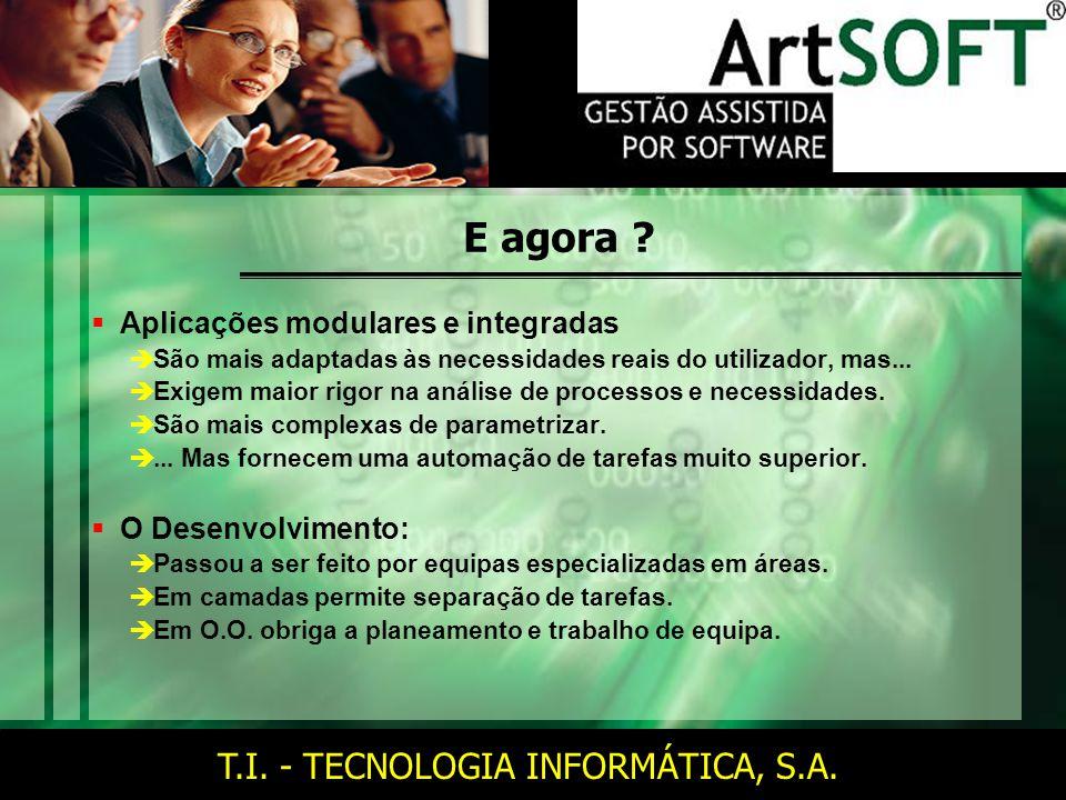T.I. - TECNOLOGIA INFORMÁTICA, S.A. E agora .