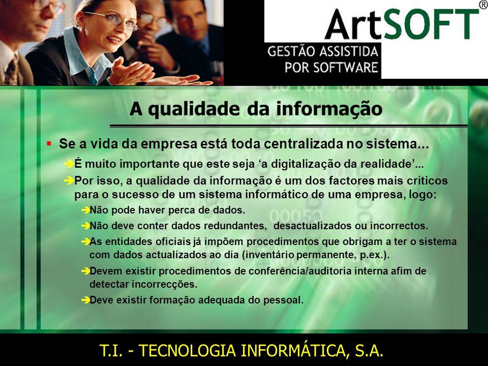 T.I. - TECNOLOGIA INFORMÁTICA, S.A.