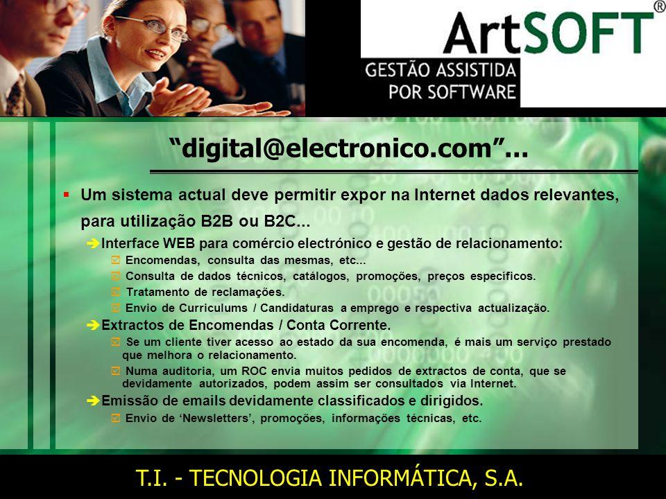 T.I. - TECNOLOGIA INFORMÁTICA, S.A. digital@electronico.com ...