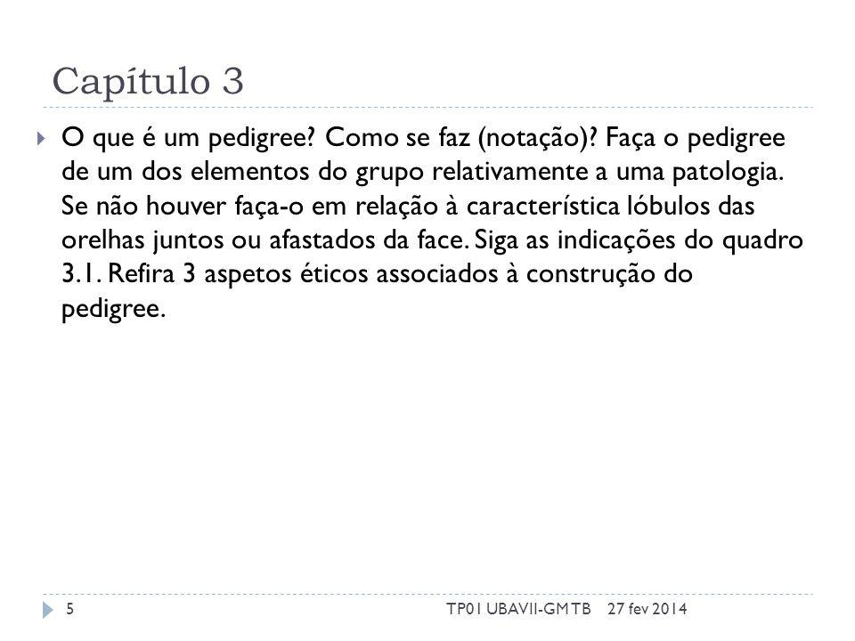 Capítulo 5  O que é o projeto HapMap? Que resultados tem? 27 fev 20146TP01 UBAVII-GM TB