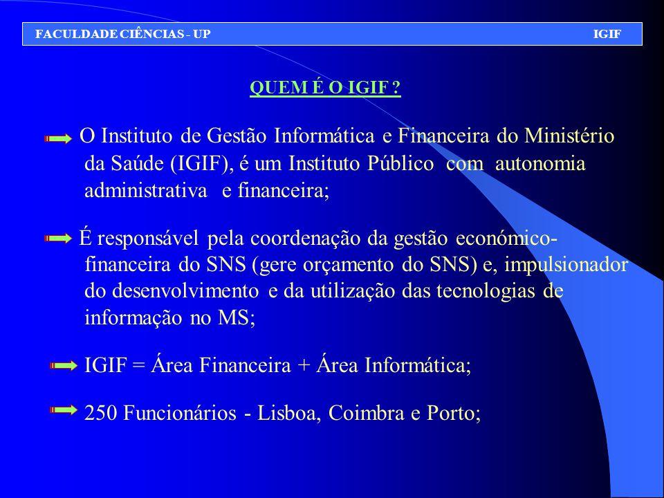 QUEM É O IGIF ? O Instituto de Gestão Informática e Financeira do Ministério da Saúde (IGIF), é um Instituto Público com autonomia administrativa e fi