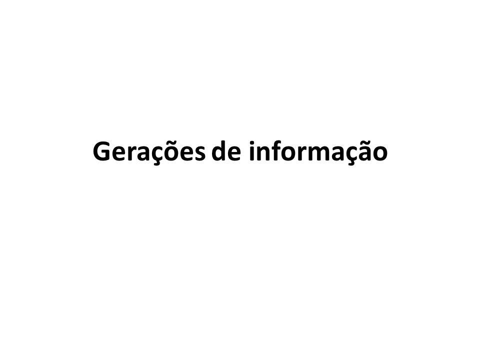 Gerações de informação