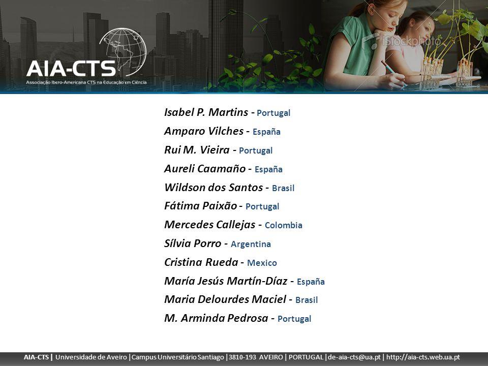 AIA-CTS | Universidade de Aveiro |Campus Universitário Santiago |3810-193 AVEIRO | PORTUGAL |de-aia-cts@ua.pt | http://aia-cts.web.ua.pt Isabel P. Mar