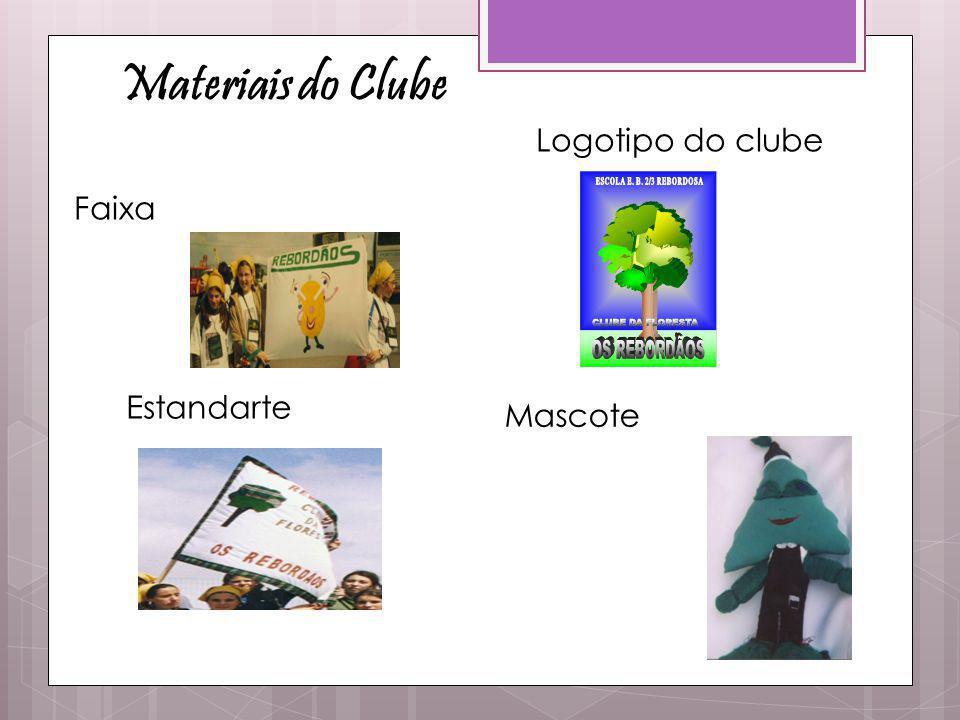 Materiais do Clube Faixa Estandarte Logotipo do clube Mascote