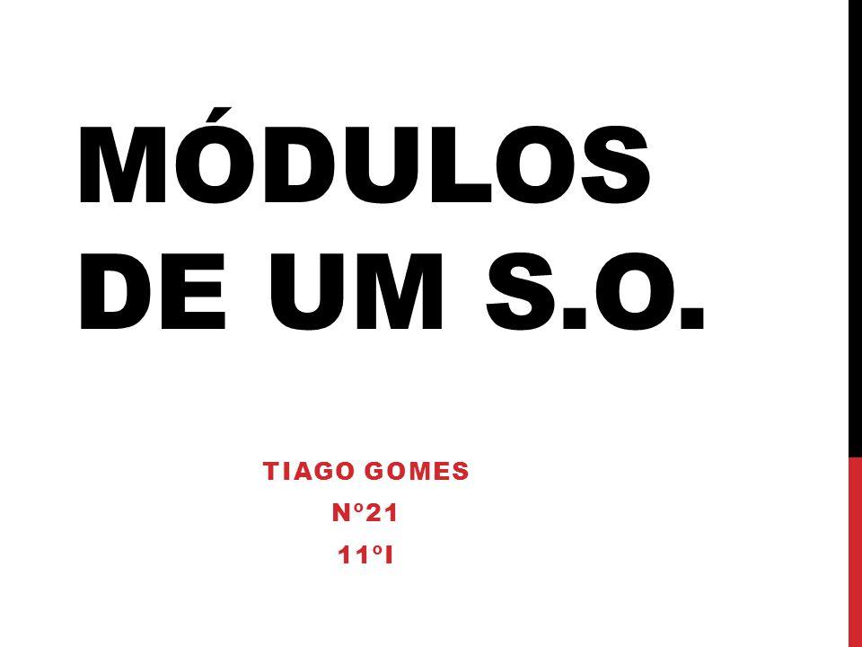 MÓDULOS DE UM S.O. TIAGO GOMES Nº21 11ºI