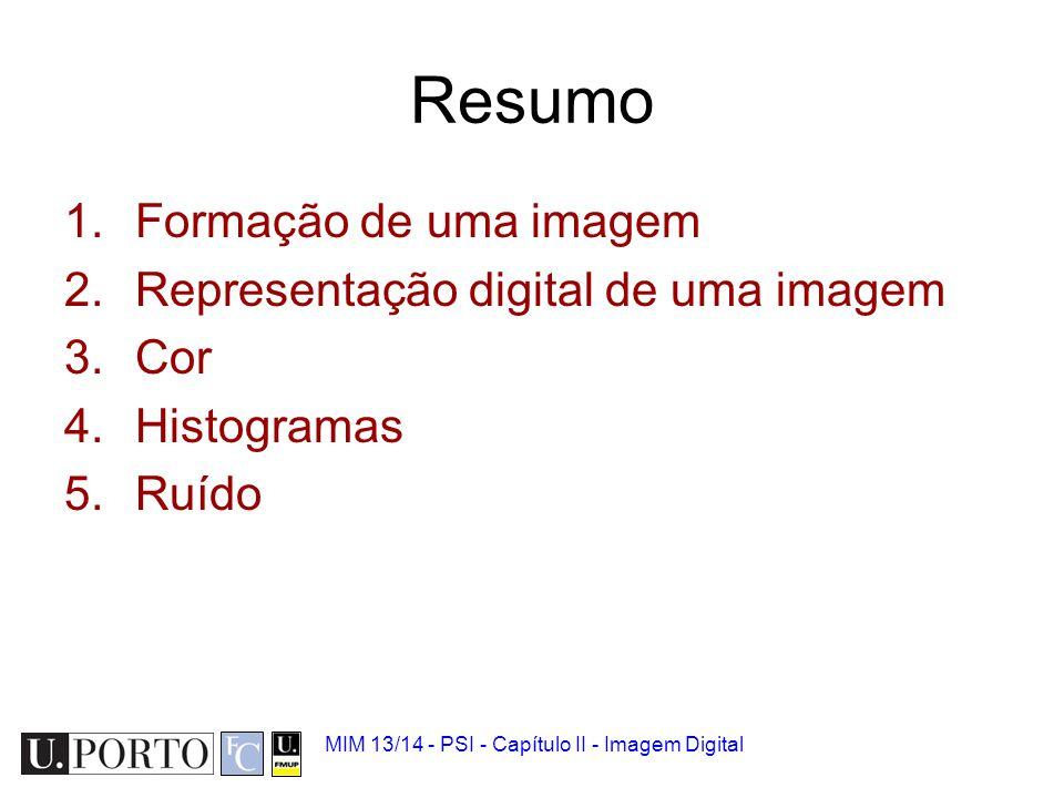 MIM 13/14 - PSI - Capítulo II - Imagem Digital 1.