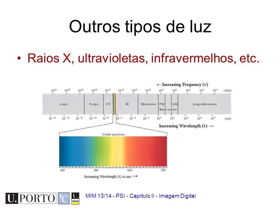 MIM 13/14 - PSI - Capítulo II - Imagem Digital Imagem médica Não usa necessariamente luz visível.