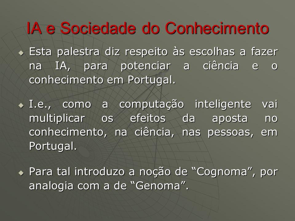 Web Semântica  O grande salto qualitativo está já a acontecer, com standards internacionais.