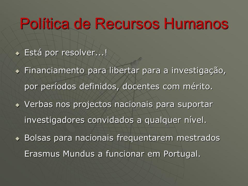Política de Recursos Humanos  Está por resolver....