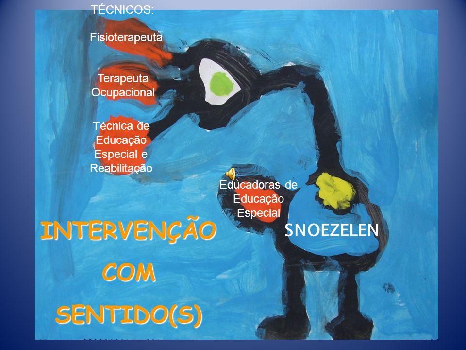 INTERVENÇÃO COM SENTIDO(S) SNOEZELEN TÉCNICOS: Técnica de Educação Especial e Reabilitação Terapeuta Ocupacional Fisioterapeuta Educadoras de Educação Especial
