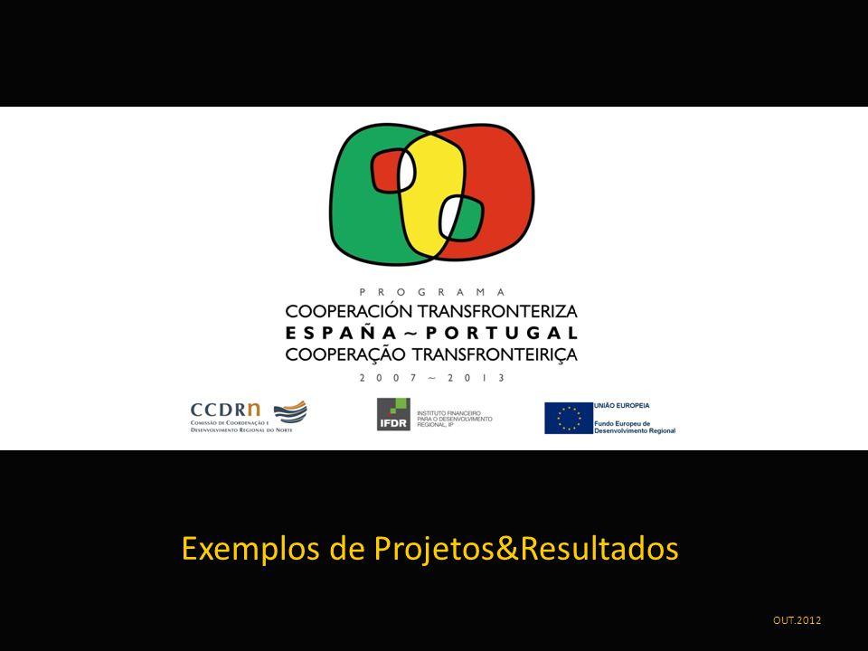 Exemplos de Projetos&Resultados OUT.2012