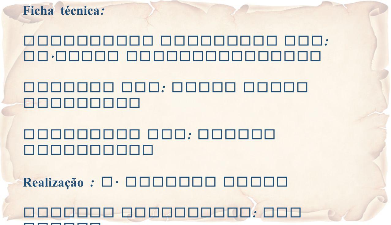 Ficha técnica : Eucaristia Celebrada por : Fr. Jacob Puthiyaparampil Animada por : Grupo Coral Dominical Projetada por : Valter Passarinho Realização