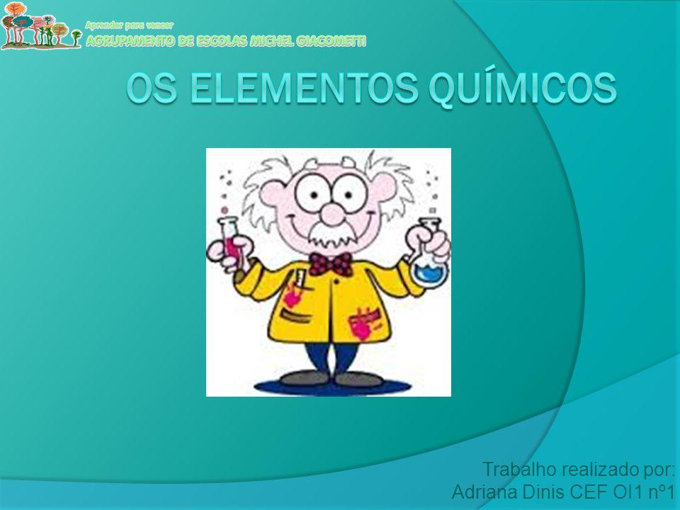 Índice  Identificação dos elementos naturais;  Identificação dos elementos sintéticos;  Símbolos químicos dos elementos;  Número atómico de um elemento;  Número de massa de um elemento;  Isótopos de um elemento;  Massa atómica relativa.