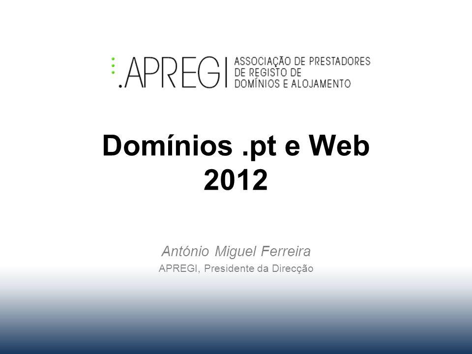 Domínios.pt e Web 2012 António Miguel Ferreira APREGI, Presidente da Direcção