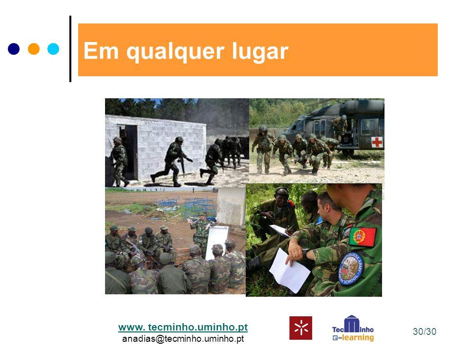 www. tecminho.uminho.pt anadias@tecminho.uminho.pt Em qualquer lugar 30/30