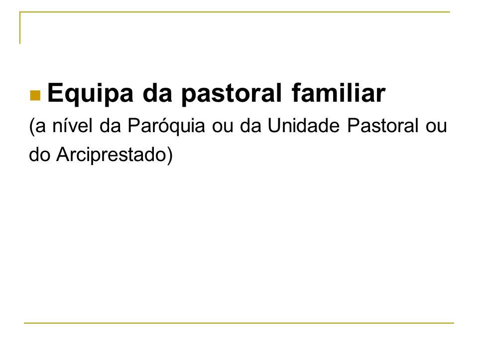 Equipa da pastoral familiar (a nível da Paróquia ou da Unidade Pastoral ou do Arciprestado)