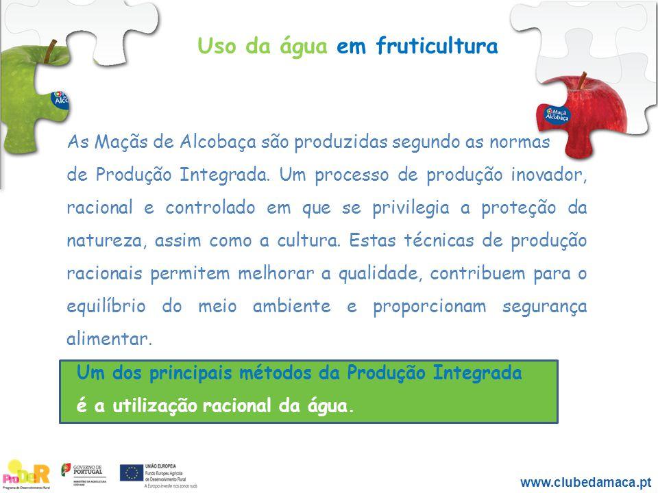 As Maçãs de Alcobaça são produzidas segundo as normas de Produção Integrada. Um processo de produção inovador, racional e controlado em que se privile
