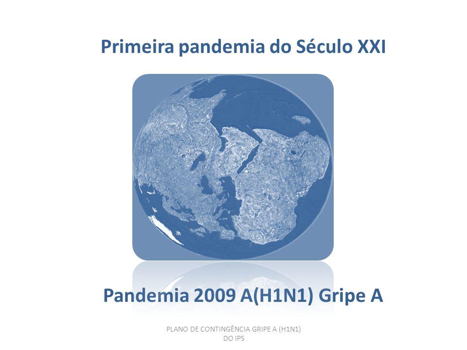 PLANO DE CONTINGÊNCIA GRIPE A (H1N1) DO IPS Gripe pneumónica Espanha: pneumonica ou Espanhola : A(H1N1) 1918 Gripe Asiática : Asiática : A(H2N2) 1957 Gripe H.Kong : A(H3N2) 1968