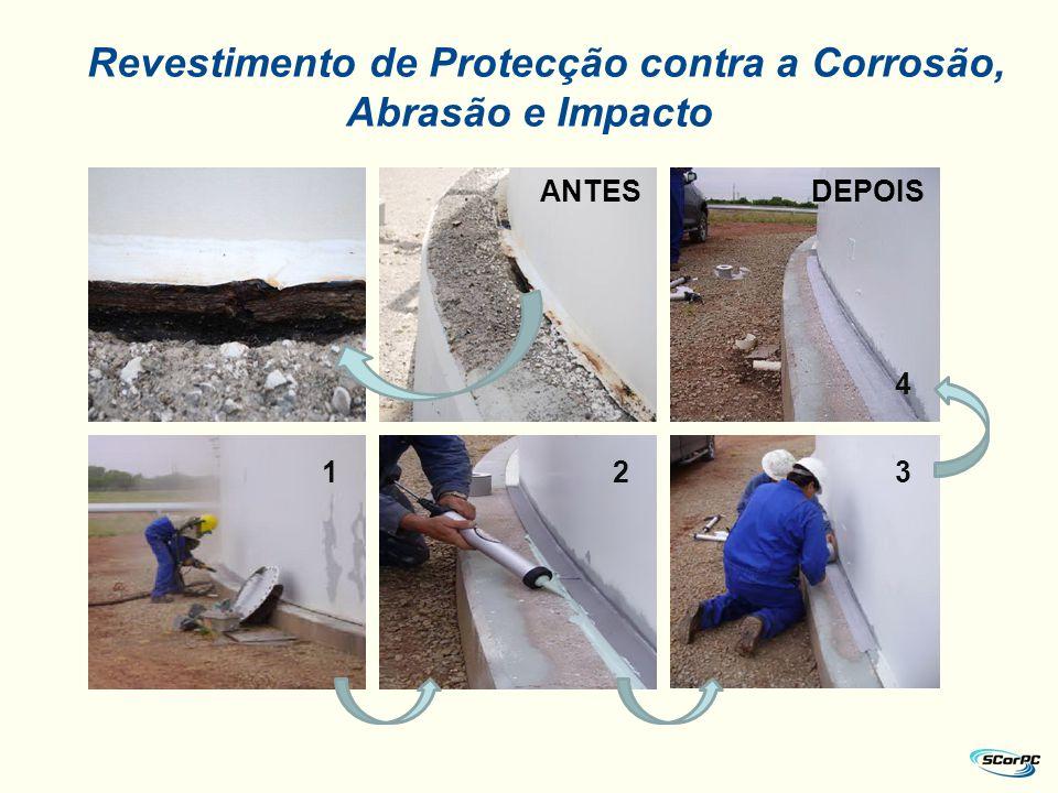 Revestimento de Protecção contra a Corrosão, Abrasão e Impacto 12 4 3 ANTESDEPOIS