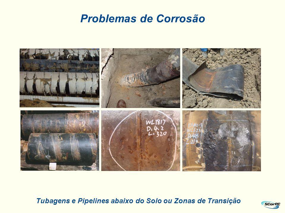 Problemas de Corrosão Tubagens e Pipelines abaixo do Solo ou Zonas de Transição