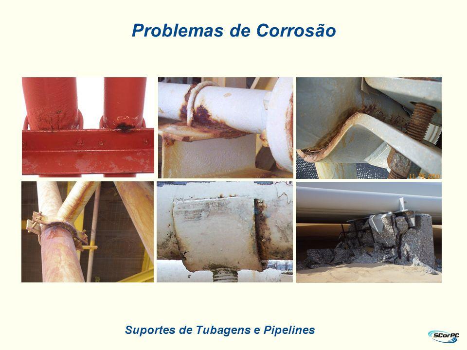 Suportes de Tubagens e Pipelines Problemas de Corrosão
