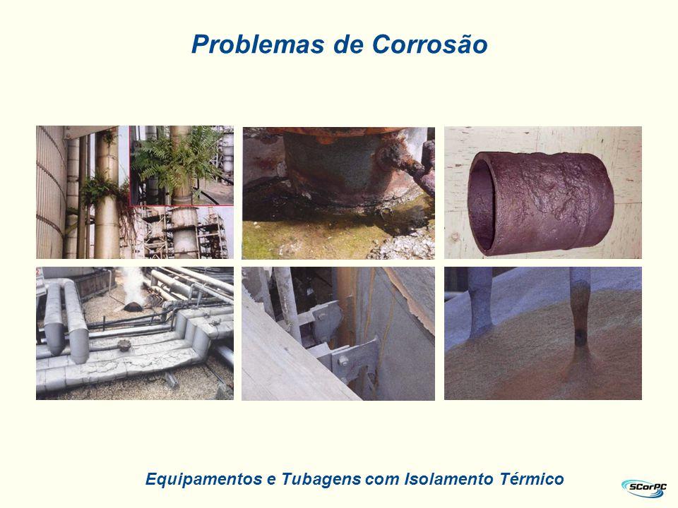 Equipamentos e Tubagens com Isolamento Térmico Problemas de Corrosão