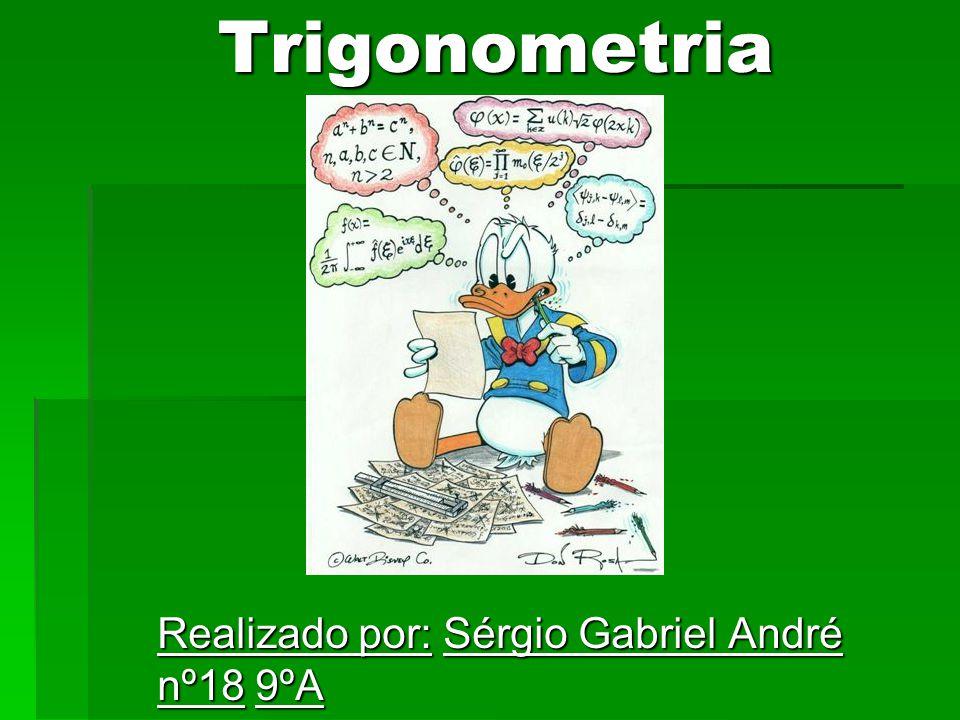 Trigonometria Realizado por: Sérgio Gabriel André nº18 9ºA