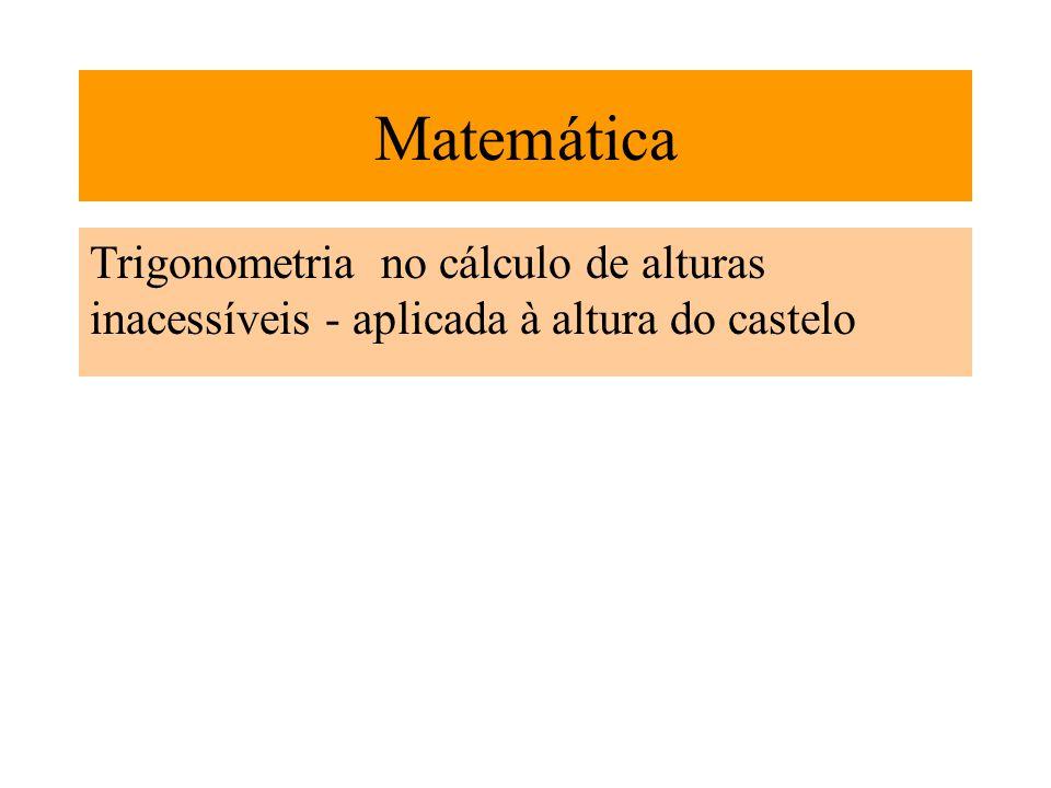 Trigonometria no cálculo de alturas inacessíveis - aplicada à altura do castelo Matemática
