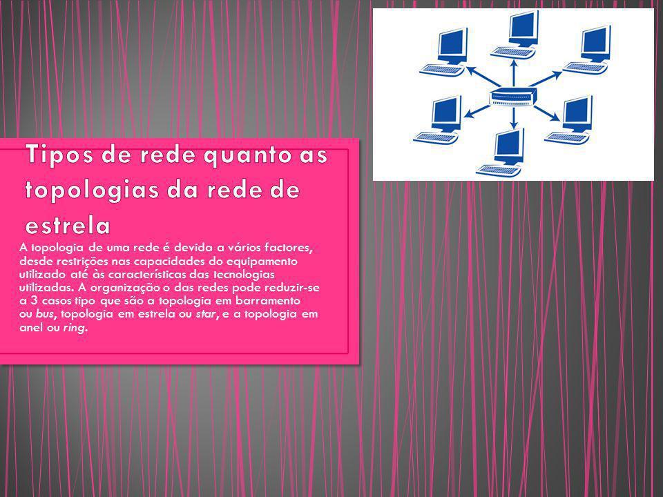 A topologia de uma rede é devida a vários factores, desde restrições nas capacidades do equipamento utilizado até às características das tecnologias u