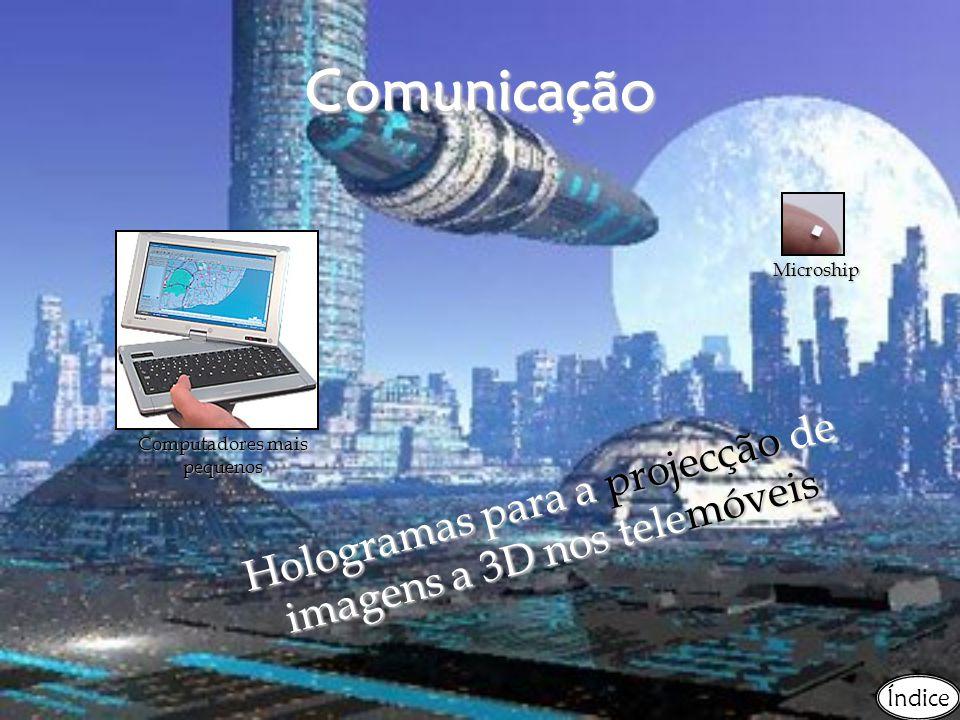 Comunicação Microship Computadores mais pequenos Hologramas para a projecção de imagens a 3D nos telemóveis Índice