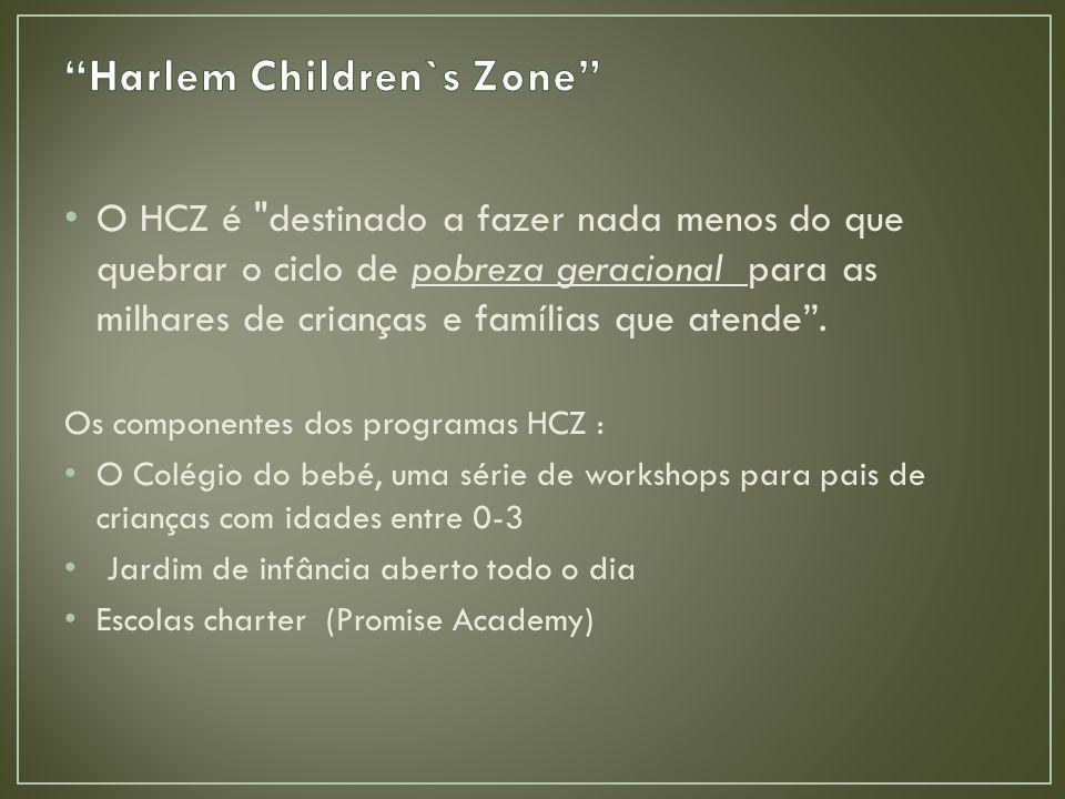 O HCZ é destinado a fazer nada menos do que quebrar o ciclo de pobreza geracional para as milhares de crianças e famílias que atende .