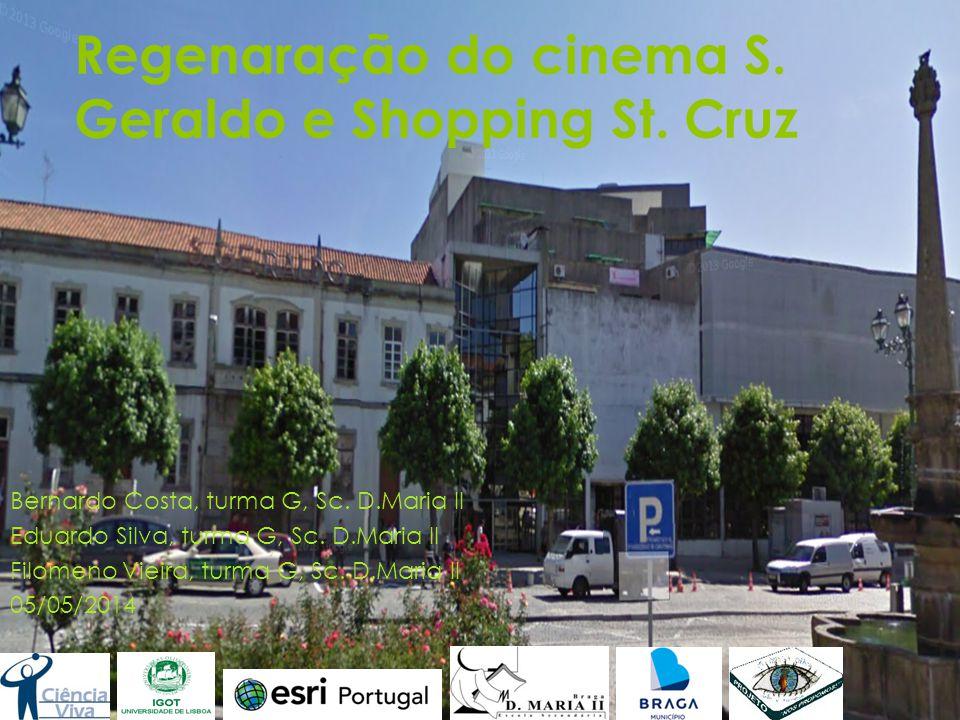 Identificação do problema  O cinema São Geraldo, a segunda sala a exibir filmes em Portugal, foi ao longo de décadas a sala de cinema dos bracarenses, atualmente esta mítica sala está fechada e em degradação constante.