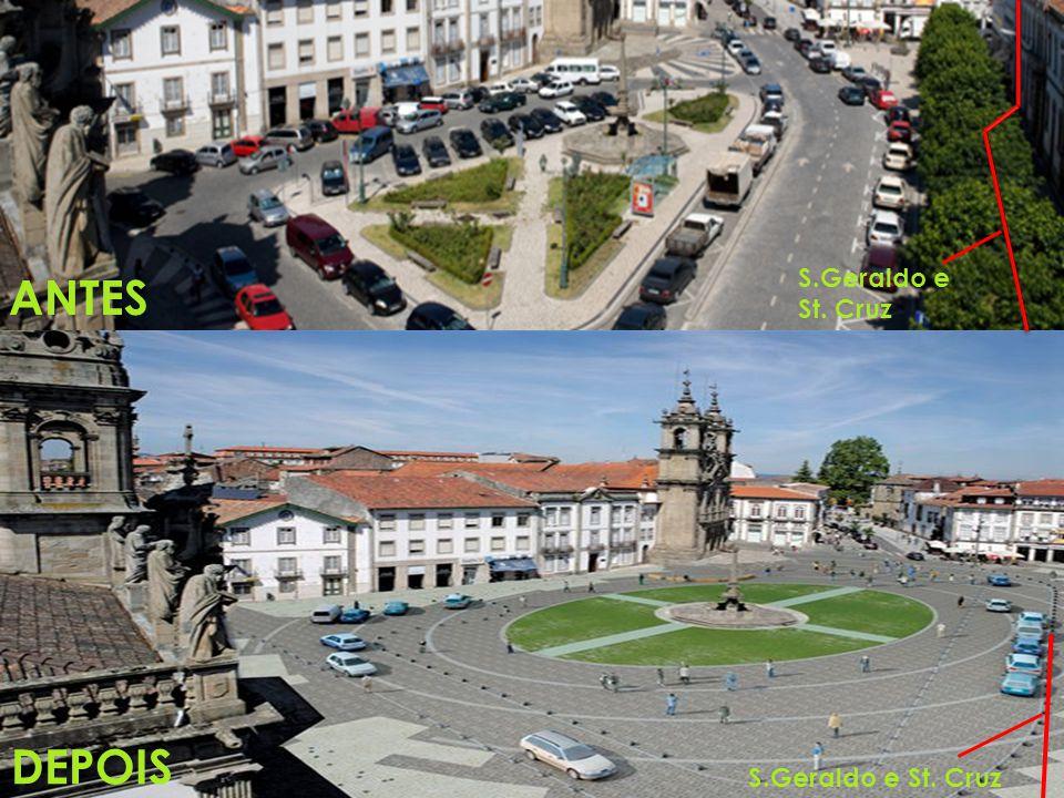 Igreja St.Cruz Igreja S.Marcos Cinema S.Geraldo e Shopping St.Cruz Theatro Circo Capela S.João do Souto e Casa dos Coimbras Shopping Liberdade Street