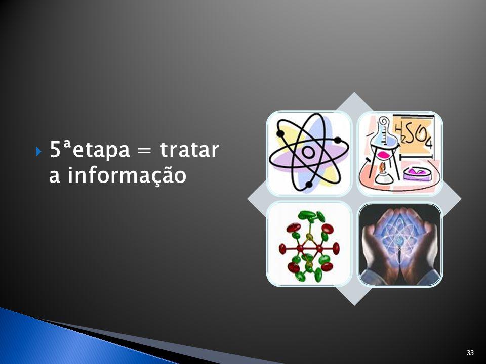  5ªetapa = tratar a informação 33