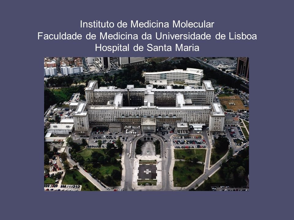 Instituto de Medicina Molecular Faculdade de Medicina da Universidade de Lisboa Hospital de Santa Maria