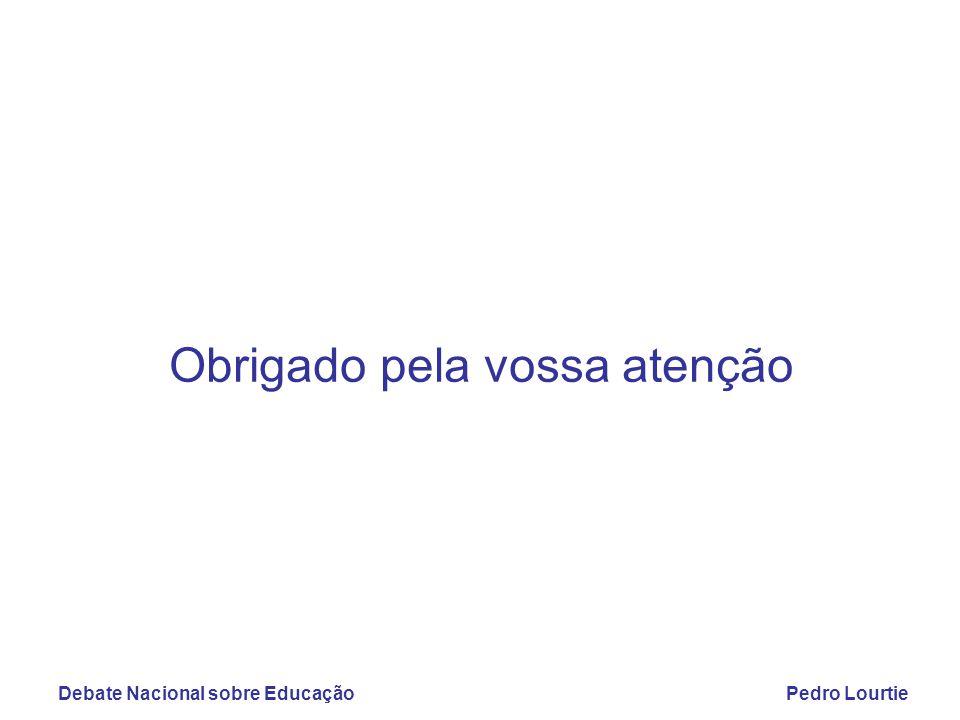 Debate Nacional sobre EducaçãoPedro Lourtie Obrigado pela vossa atenção