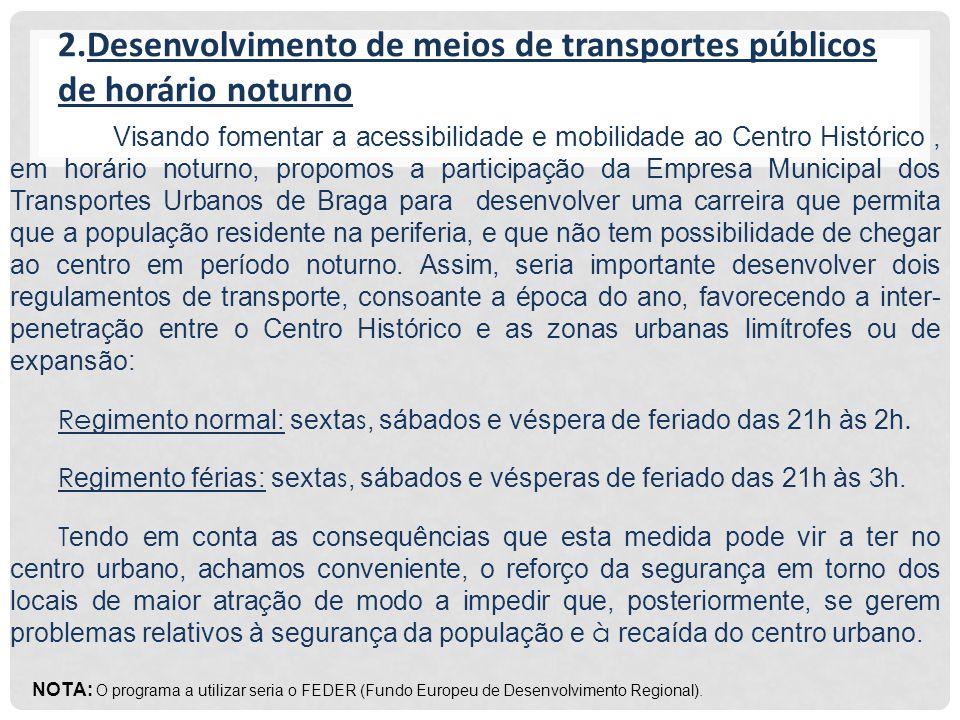 3. Área limite de serviços transportadores