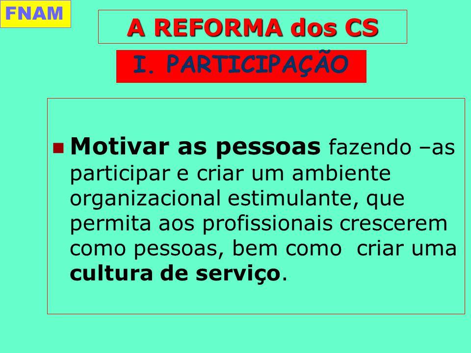 Motivar as pessoas fazendo –as participar e criar um ambiente organizacional estimulante, que permita aos profissionais crescerem como pessoas, bem como criar uma cultura de serviço.