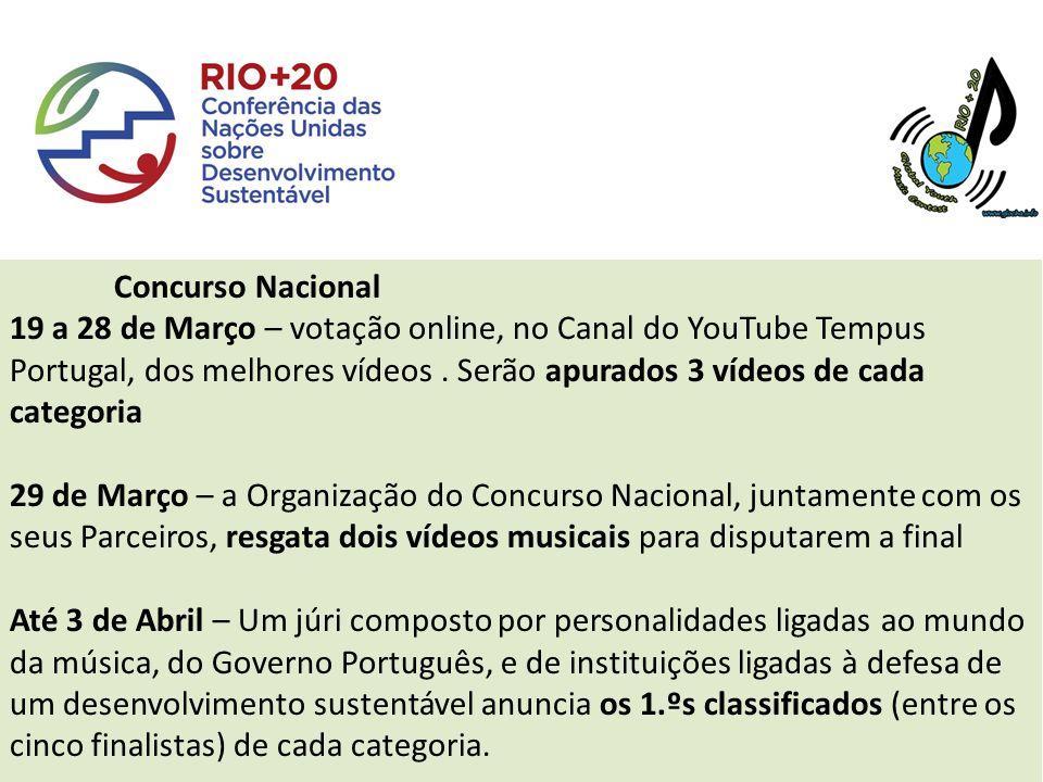 Concurso Nacional 19 a 28 de Março – votação online, no Canal do YouTube Tempus Portugal, dos melhores vídeos.