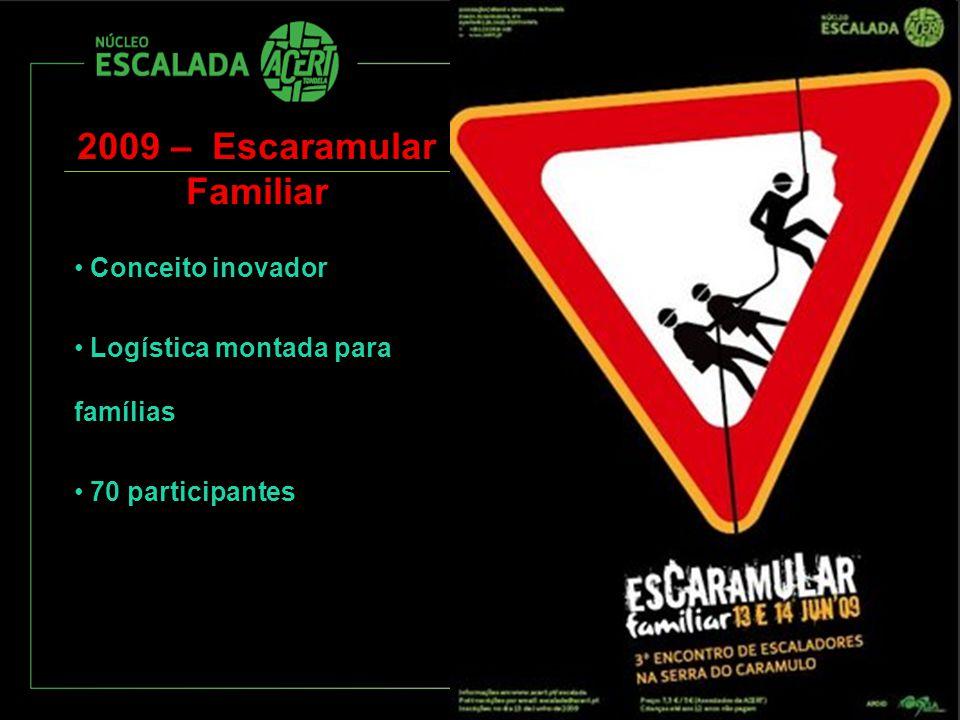 2009 – Escaramular Familiar Conceito inovador Logística montada para famílias 70 participantes