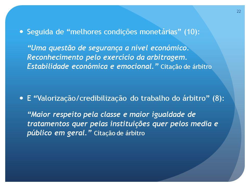 Seguida de melhores condições monetárias (10): Uma questão de segurança a nível económico.